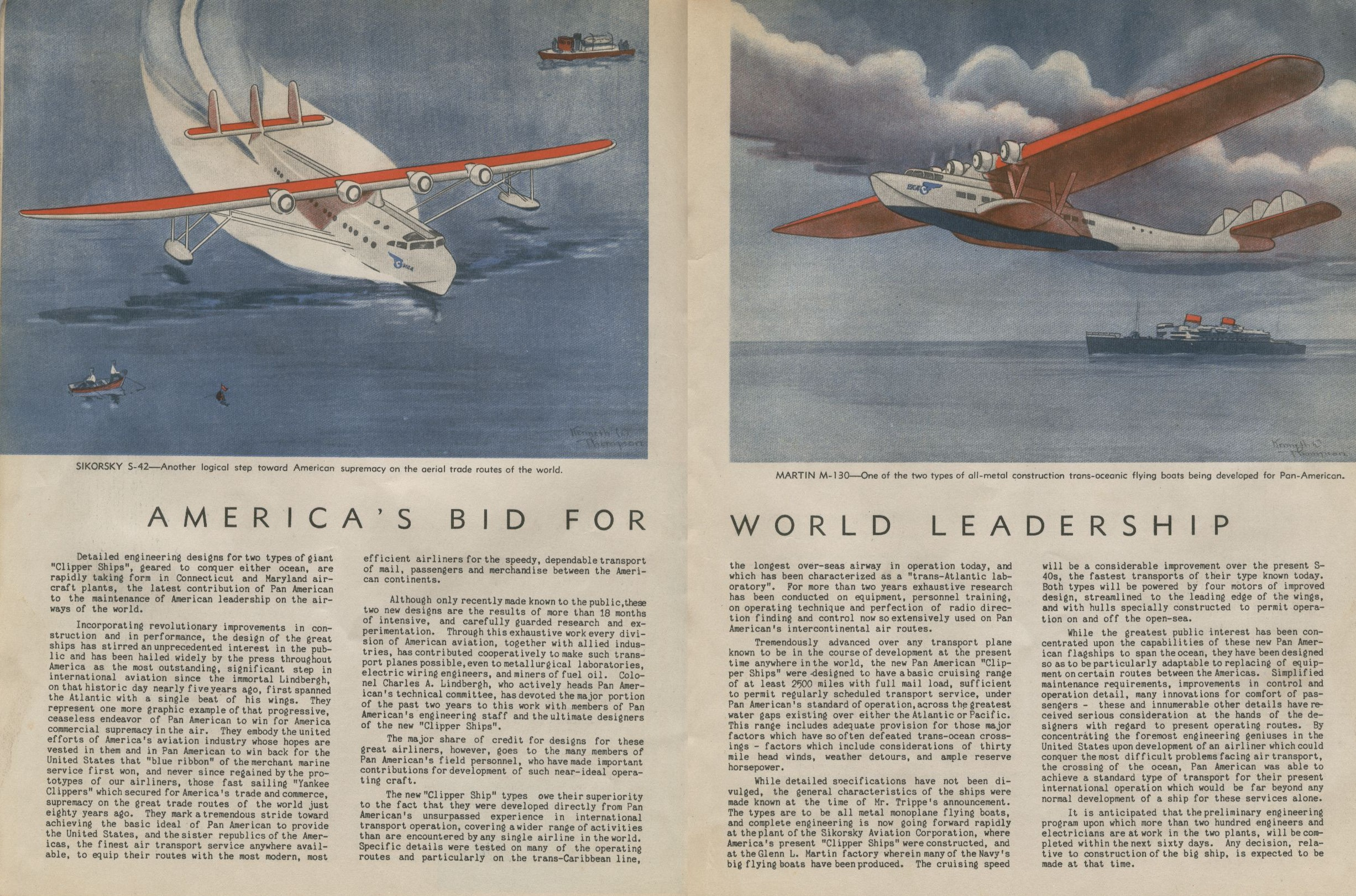 1933, March,  The Pan Am view of the world.