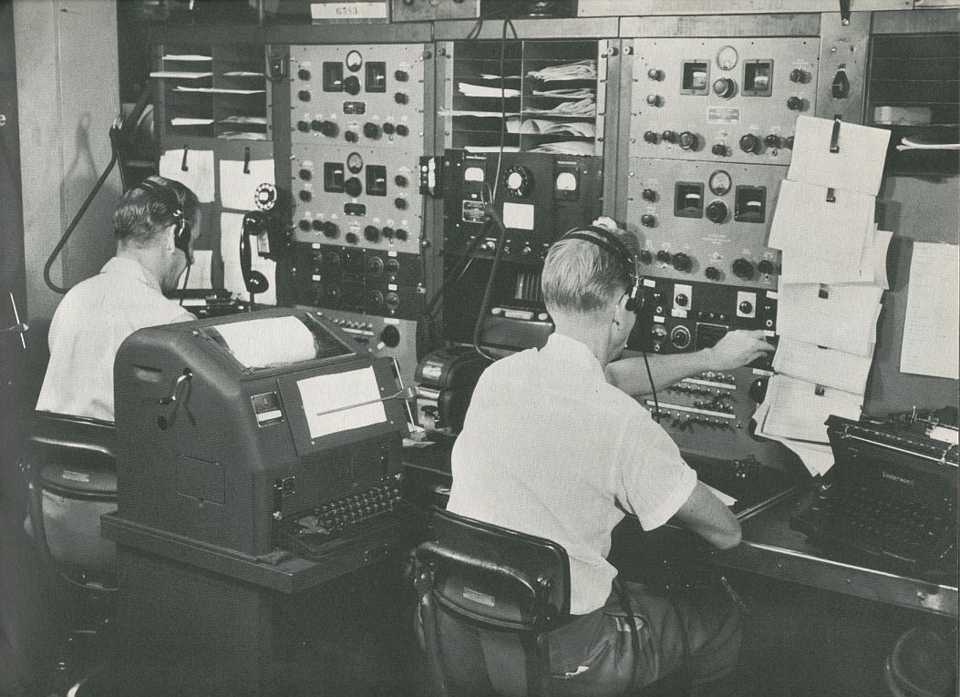 1956 Pan Am had extensive communication facilities all over the world to keep track of all aspects of the operation.
