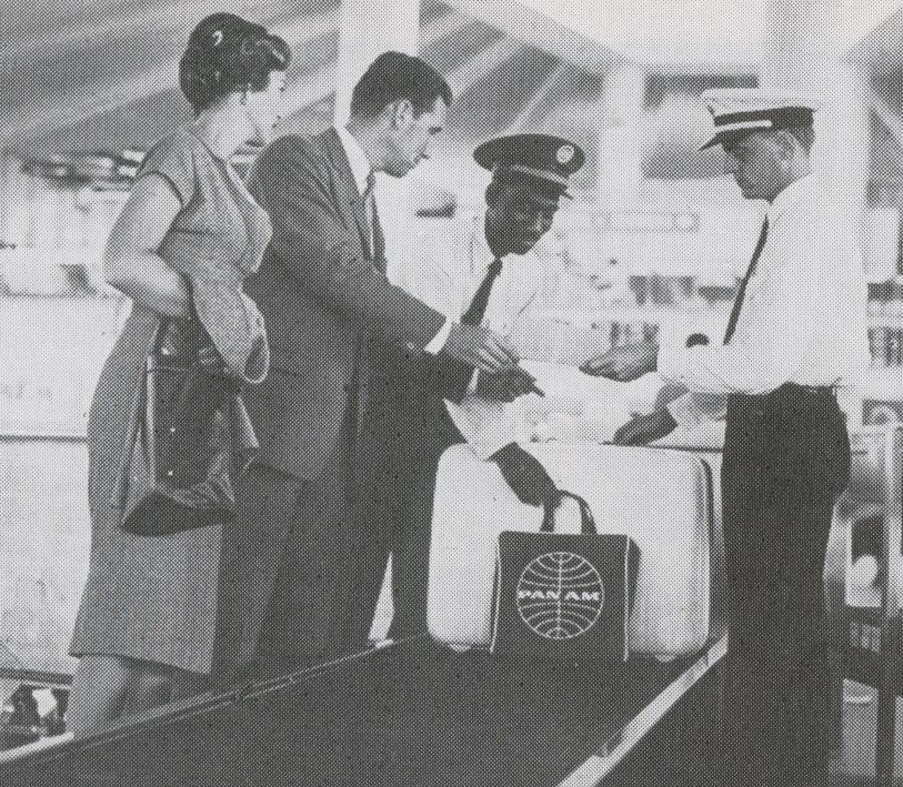 1959 Check-in at Pan Am's then state of the art WorldPort at New York JFK Airport.