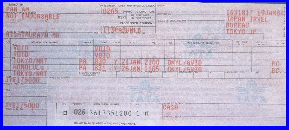 Pan Am Tickets And Boarding Passes