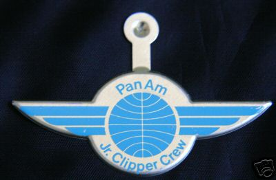 An early 1970s Pan Am kiddie wing in the Helvetica style.  It is not known if this style of kiddie wings was actually distributed to children or if this was just a production sample.