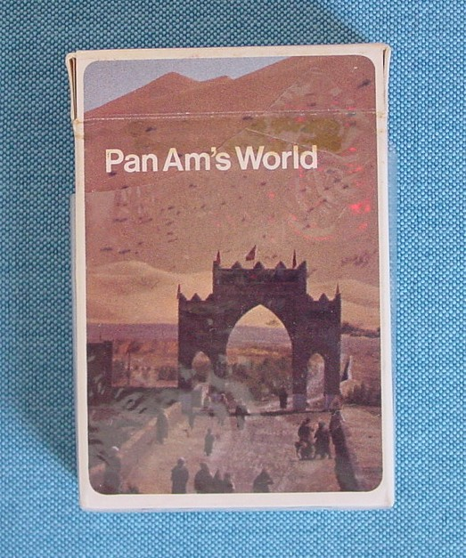 Pan Am playing cards from the early 1970s in the Helvetical style.