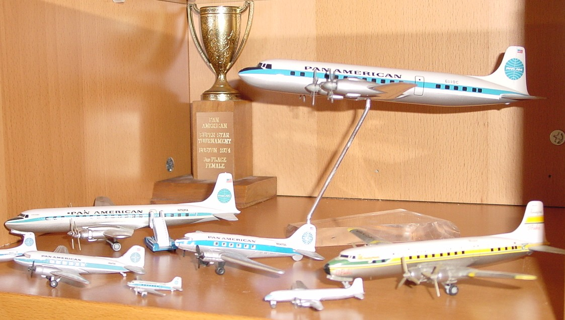 The Douglas corner with high quality representations of DC3s, DC6s & DC7s.  The Yellow and green aircraft on the right is from sister company Panagra.
