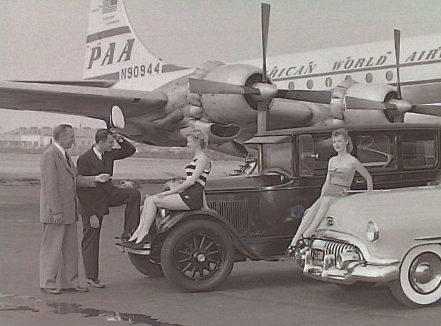 1950s Pan Am Boeing 377