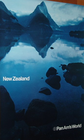 An early 1970s Poster in the Helvetical style promoting New Zealand.
