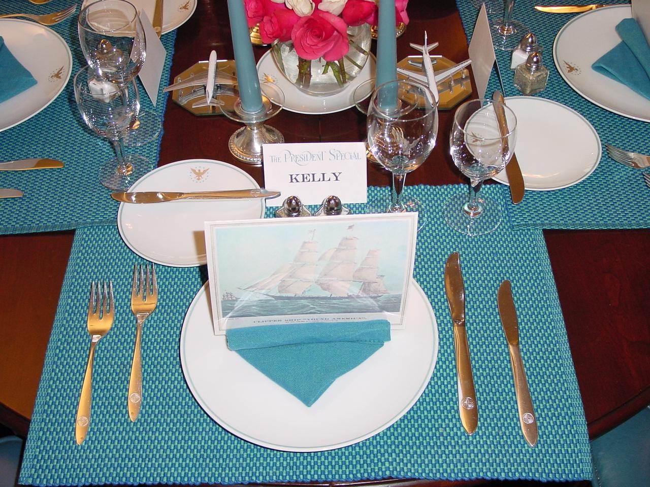 Pan Am Dinner Table
