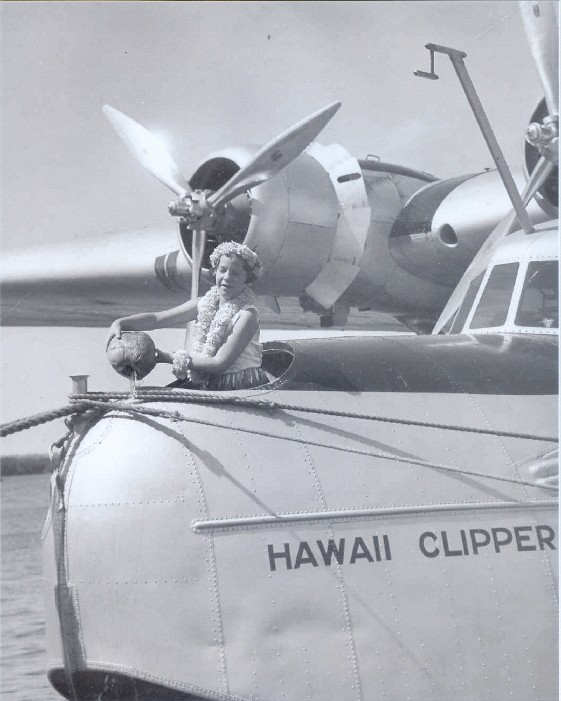 1936 Patricia Kennedy Christens Hawaii Clipper in Honolulu
