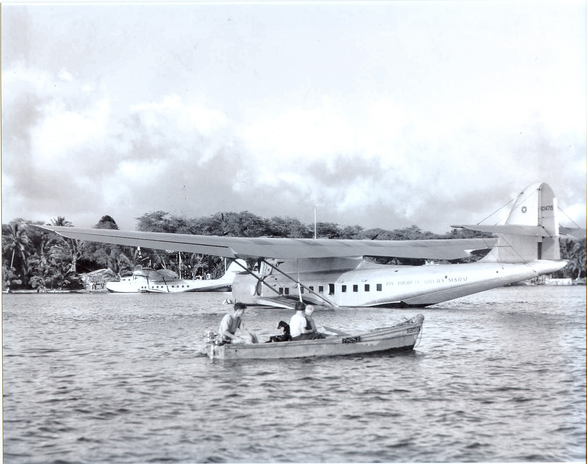 1936 Philippine Clipper moored Pearl Harbor